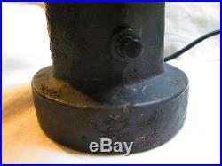 Fabulous Figural Black Americana Electric Cigar Lighter Cast Iron 1930's Working