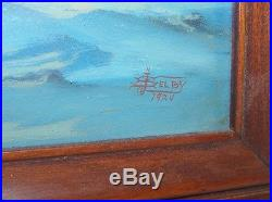 Fine 1924 Nautical Painting Signed Joe Selby African American Artist NR