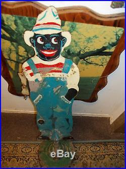 Folk Art Black Americana Sambo Figural Lawn Water Sprinkler
