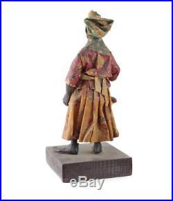 Francisco Vargas New Orleans Wax Doll, Folk Art Black Americana, c1920
