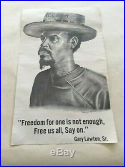 Free Soledad, Angela Davis, Black Panther Party, Civil Rights Freedom Poster