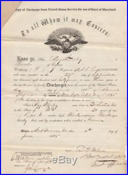 Freed Slave's Civil War Army Paperwork 7th U. S. Colored Infantry