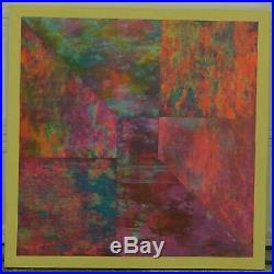 G Caliman Coxe Vintage BIG Abstract Painting African American Modernist P OP ART