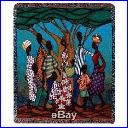 Going to Market African American Black History Tapestry Afghan Throw
