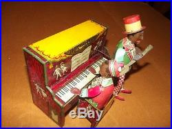 Ham And Sam Minstral Band By Strauss 1921 Wind Up Toy Operates Nice