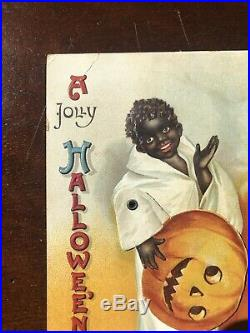 Halloween Ellen Clapsaddle Mechanical Ghost Black Americana Postcard Original