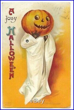 Halloween Postcard Signed By Clapsaddle Mechanical Series 1236 Black Americana