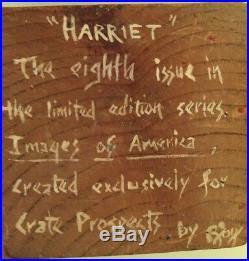 Harriet Tubman Black Americana Folk Art Hand Carved Figure Crate Prospects