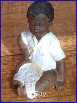 Heubach Black Boy Eating Porridge Figurine