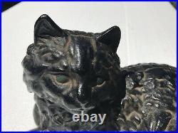 Hubley Black Cat Cast Iron Doorstop #1248
