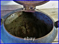 Huge Antique W. C. Davis Co. Cincinnati Ohio 1864 CIVIL War Era Tea Pot Kettle