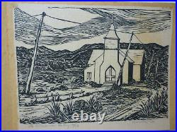 Ina Annette Woodblock Print, In Cimarron Valley 1939