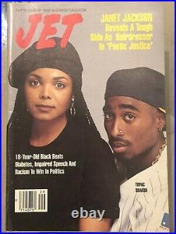 JET Magazine 2Pac & Janet Jackson Poetic Justice 1993 / PreVIBE DEATH ROW