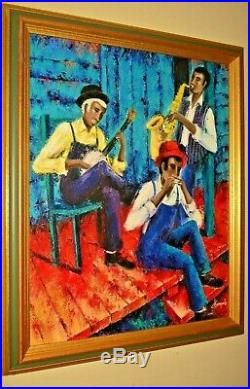 JOEL CHAMPALE African American Black Jazz Musicians House Portrait Oil Painting