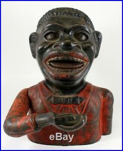JOLLY NR BANK Cast Iron 1880's ORIGINAL Working SHEPARD Black Americana