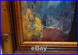 Jan Browne African American Trumpet Horn Player Original Oil On Canvas Painting