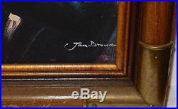 Jan Browne African American Trumpet Player Original Oil On Canvas Painting