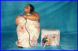 Jazz Diva / Cookie Jar by Clay Art / Jazz Singer and matching Salt and Pepper