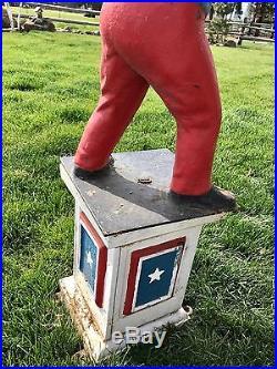 Jocko Black Americana Art Vintage Lawn Jockey