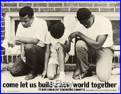 John LEWIS Come Let Us Build a New World Together SNCC Poster by Danny LYON