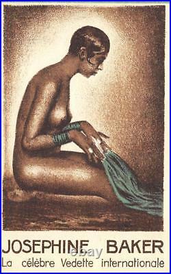 Josephine Baker Entertainer Casino de Paris Super Production 1930-31 Card