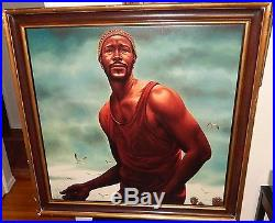 Kadir Nelson Trouble Man Marvin Gaye Huge Giclee On Canvas Painting With Coa