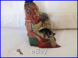 Kyser & Rex 1890 Mammy With Spoon Red Dress Baby Yellow Dress Cast Iron Bank