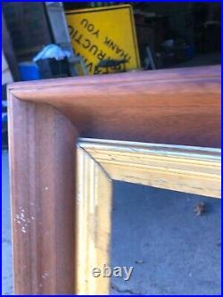 LARGE vintage black walnut & gold liner picture frame 33/26 26/19.5 art