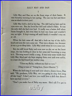 LILLY MAY AND DAN TWO CHILDREN OF THE SOUTH Marel Brown 1st Ed African Am 1946