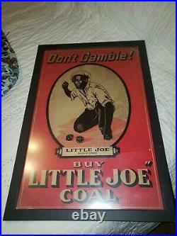 LITTLE JOE COAL ADVERTISEMENT DONT GAMBLE! 1940s BLACK AMERICANA