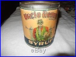 Large Old Handled 1920's Black Americana Syrup Tin Can Dispenser Uncle Remus