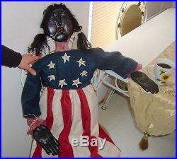 Large Patriotic Themed Black Americana Doll