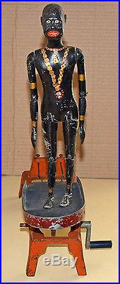 Large & Rare Early American Black Dancer Jigger