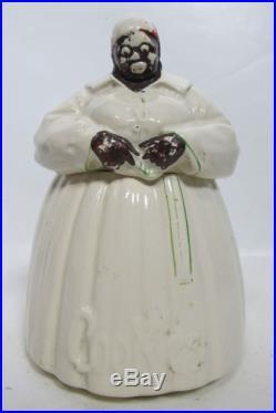 Large Vtg Pea Head Mammy Figural Black Americana Cookie Jar Marked McCoy NR yqz