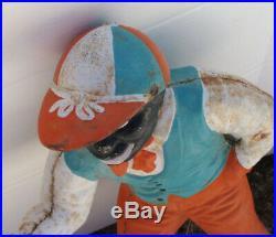 Lawn Jockey Cast Iron Original Paint, Underground Railroad Black Americana Jocko