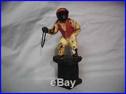 Lawn Jockey Vintage Cast Iron- Doorstop or GREAT PIECE FOR ANY GARDEN- WOW