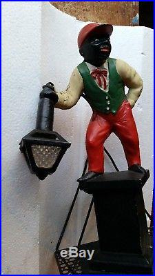 Lawn Jockey lamp. Antique lawn jockey lamp