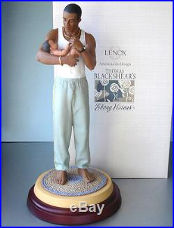 Lenox Thomas Blackshear Proud Papa Ebony Visions Figurine 1st Edition COA New