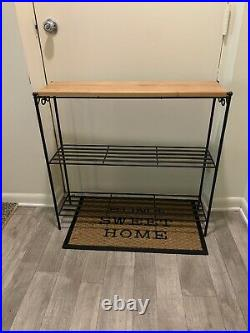 Longaberger Foundry Wrought Iron Metal Works Bookcase and Shelf