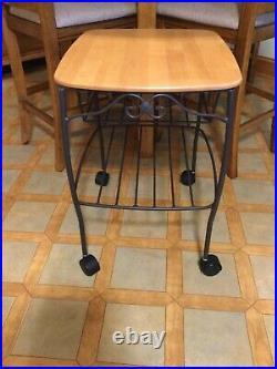 Longaberger Hostess Wrought Iron File Basket Table Woodcrafts Top Lid Excellent