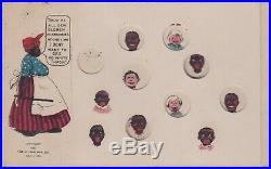 Lot 1394 Black Americana Very Rare! Pick The Pickaninnies Puzzle Card