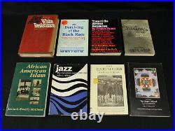 Lot 30 Rare African American Books Islam, Malcolm X, Spiritual, History, Music+