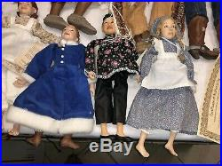 Lot Of 14 Daddy long legs Dolls USED SEE