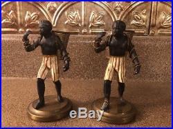 Lot Of 2 Black Americana Petites Choses Blackamoor cast iron statue figure 4