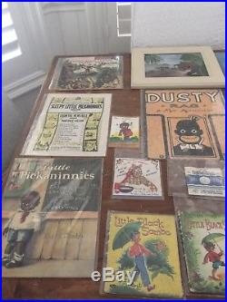 Lot of 64 Black Americana Collectibles inc. Mammy Doorstop Scootles Doll Etc