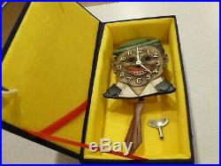Lux DeLuxe Keebler Clock Dixie Boy Black Americana Works And Comes With Box