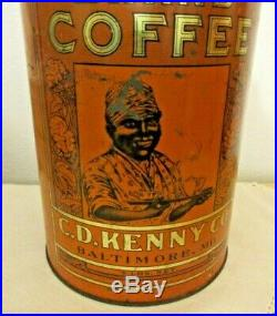 Mammy's Coffee 4 Lbs Large Can C D Kenny Co. Baltimore MD Black Americana