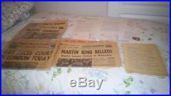 Martin Luther King Jr Murder-19 Items-April is 50th Anniversary-Black History