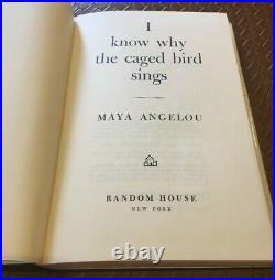 Maya AngelouI Know Why the Caged Bird SingsSIGNED 1st Ed1969 HC/DJ