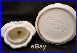 McCoy Cookie Jar, Black Americana, Vintage 40's, Rare Original Red Checked Apron